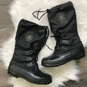SOREL Snowlion Black Insulated Winter Boots